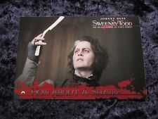Sweeney Todd promo card - The Demon Barber Of Fleet Street, Johnny Depp