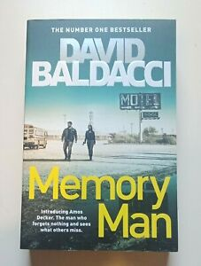 Memory Man by David Baldacci  Paperback Book Free Shipping!