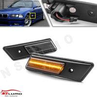 Smoked LED Side Maker Light for 92-96 BMW E36 Pre-LCI M3 3 Series 318i 320i 325i