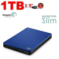 "1TB SEAGATE Backup Plus SLIM DISCO DURO EXTERNO PORTABLE 1TB 2.5"" USB3.0 Azul"