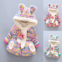 Toddler Baby Kids Girl Winter Camouflage Thick Warm Jacket Hooded Windproof Coat