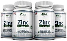 Zink Gluconsäure 40 mg 4 Flaschen x 365 Tabletten Hergestellt in UK 100 %