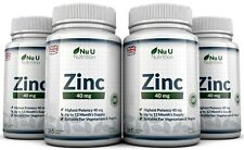 Zinc Gluconate 40mg 4 bottles x 365 Tablets UK Made 100% Money Back Guarantee