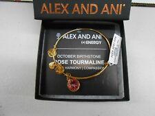 Alex and Ani October Birthstone Rose Tourmaline Bracelet Yellow Gold Finish NWT