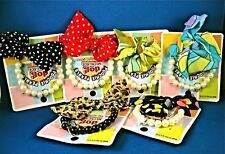 PET DOG SUPPLIES POOCHIE PEARLS NECKLACE w/BOW FUN DAY DRESS-UP *SALE* NEW NIP