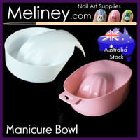 Manicure Bowl w/Handle Hand Spa Tool Tray Container Holder