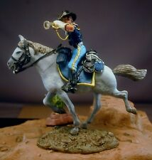 54mm Resin 7th Cavalry Mounted Buglar Little Big Horn Kit  NEW!