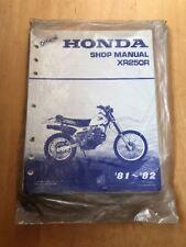 Official Honda XR250R Shop Manual '81-''82