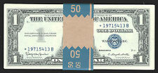 RAREST OF ALL 1957B STAR$1 SILVER CER-50 PCS CON GEM-SERIAL # STARTS WITH 1