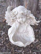 "angel girl latex w plastic backup concrete plaster mold 13.5"" x 11"""