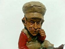 """Collectible Tom Clark 1986 """"Chief"""" Gnome signed, with promo signature sticker"""