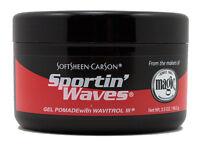 2 X SPORTIN WAVES HAIR GEL POMADE WITH WAVITROL BLACK 3.5oz