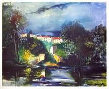 Maurice de Vlaminck Kunstdruck Poster Bild Lichtdruck Uferlandschaft 78x94 cm
