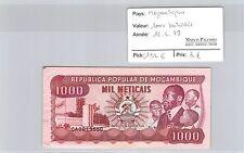 BILLET MOZAMBIQUE - 1000 METICAIS - 16.6.1989