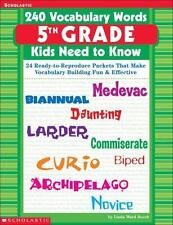 240 Vocabulary Words 5th Grade Kids Need To Know: 24-ExLibrary