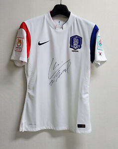 2015 South Korea Away S/S No.22 Cha Du ri Player Issue 15 Asiacup signed shirt
