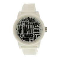 Armani Exchange Men's AX1442 White Silicone Japanese Quartz Fashion Watch