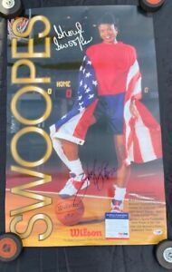 """WILSON SHERYL SWOOPES AUTOGRAPHED 18"""" x 28.5"""" POSTER PSADNA H95938"""