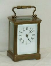 Antique Brass Carriage Clock for Spares or Repair No Escapement Not Working