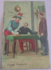 FRENCH SOLDIER VOLUNTEER Signed Up Uniform Love the Canteen Comic Colour PC 1906