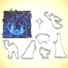 Nativity Cookie Cutter Set 7 Pc - Foose Cookie Cutters - US Tin Plate Steel