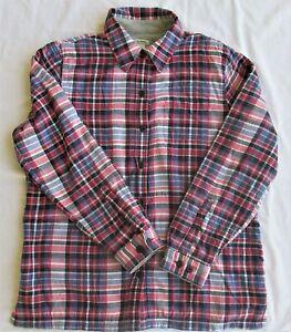 L.L. Bean Women's Sherpa Lined Flannel Shirt/Jacket Size Medium