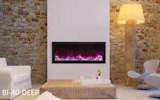 Amantii Bi-40-deep Panorama Series Electric Fireplace -Built in w/ Heat Fire&Ice