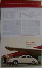 Jaguar 240 & 340 models 1967-68 Original UK Foldout Sales Brochure Mark 2