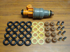 Fuel injector repair kit: Pintle caps O-rings Filters Fits EV1 Ford, BMW,