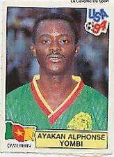 N°095 YOMBI CAMEROUN CAMEROON PANINI WORLD CUP 1994 STICKER VIGNETTE 94