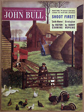 BORDER COLLIE WORKING SHEEPDOG DOG JOHN BULL ART MAGAZINE COVER - Donald Lampitt