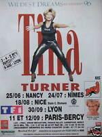 PUBLICITÉ 1996 NRJ AVEC TINA TURNER WILDEST DREAMS EN CONCERT 96 PARIS-BERCY