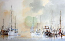 Alan Stark Signed Limited Edition Sailing Print Evening Tide Seascape Nautical