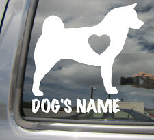 Akita Dog Heart Love - Custom Text - Car Window Vinyl Decal Sticker 01103