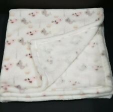 Blankets & Beyond Security Blanket White Grey and Pink Bird Tree Baby Lovey 2015