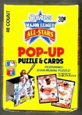 2 Boxes 1988 Donruss All-star Baseball Pop-up Puzzle Cards All EX Unopened Pkg.