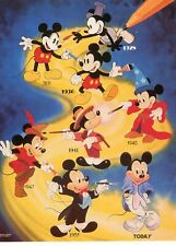 Generation Mickey Postcard, Featuring Mickey Mouse Images Since 1928