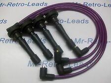 Violet 8MM performance ignition leads will fit honda civic B16 B18 guidon moteurs