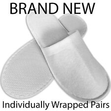TOWELING DISPOSABLE SLIPPERS,CLOSED TOE TERRY STYLE NEW,SPA,HOTEL,GUEST,UK ✔✔
