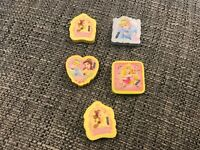5 x DISNEY PRINCESS ERASER RUBBERS NEW UNUSED