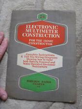 old brochure ? Electronic multimeter construction Bernards Radio Charts