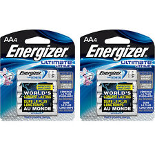 Energizer AA 8 Ultimate Lithium Batteries, L91BP FRESH DATE (2 pks of 4) 12/2036