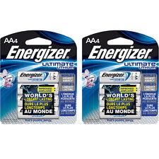 Energizer AA 8 Ultimate Lithium Batteries, L91BP FRESH DATE (2 pks of 4) 12/2036