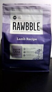 Rawbble Dry Dog Food Lamb Recipe 4lb