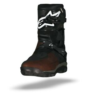 ALPINESTARS BELIZE DRYSTAR BROWN BLACK OILED LEATHER MOTORCYCLE BOOTS - NEW!