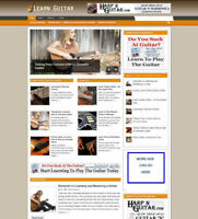 LEARN TO PLAY GUITAR BLOG / ARTICLES WEBSITE WITH NEW DOMAIN & HOSTING