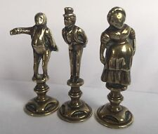 Vintage Dickensian Figures Polished Bronze Pipe Tampers