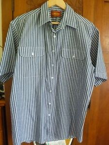 Bisley casual short sleeve shirt size 42 /L FREE POST