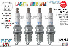 NGK Iridium Spark Plug HONDA Civic Type R FD2 Integra Type R IFR7G-11KS set of 4