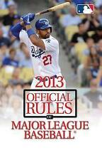 NEW 2013 Official Rules of Major League Baseball by Triumph Books